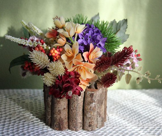 Flower Arrangement. Small Silk Flowers by AnythingDiscovered