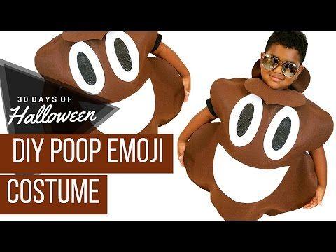 diy poop emoji costume jphalloween 30 days of halloween youtube - Youtube Halloween Crafts