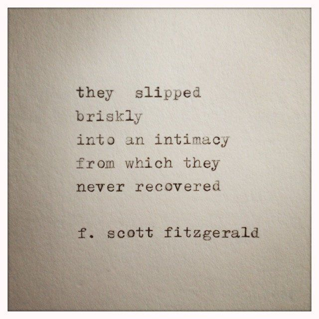 F. Scott Fitzgerald Love Quote Made On Typewriter typewriter