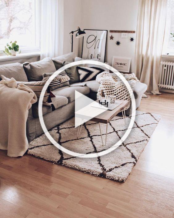 Scandinavian ideas; grey living room; cozy living room decors; modern living room.