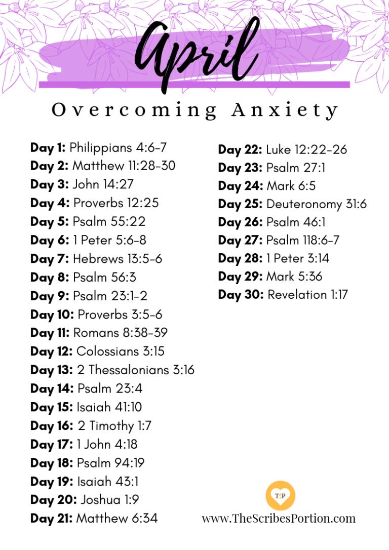 Monthly Scripture Verses