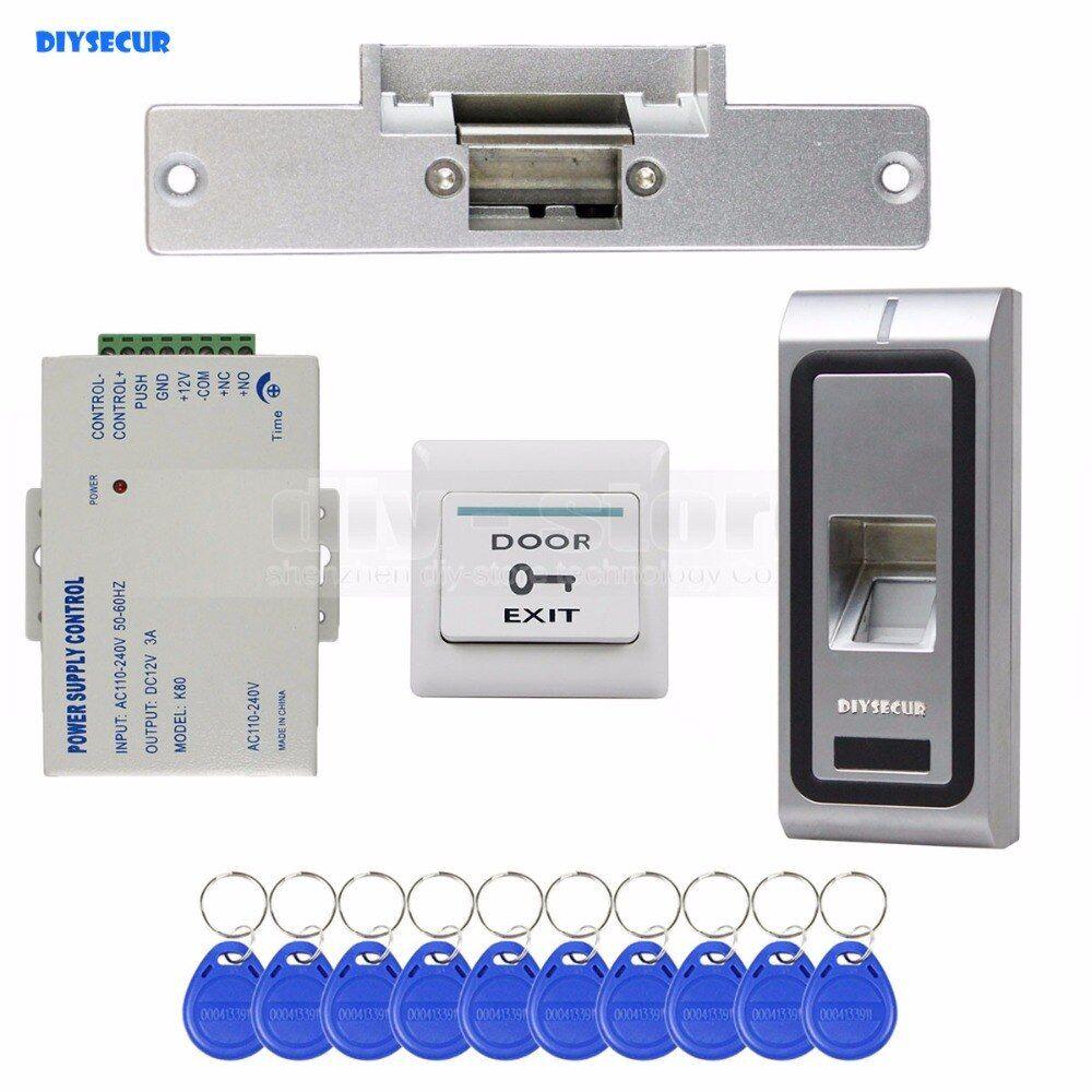DIY Fingerprint 125KHz RFID ID Card Reader 2 in 1 Door