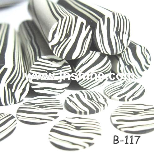 Fimo Polymer Lay Nail Art Cane Zebra Canefimo Nail Art New Design