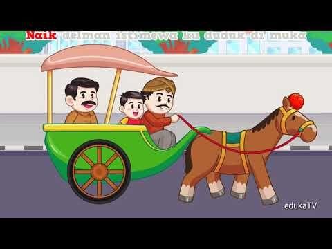 Gambar Kereta Versi Kartun Naik Delman Kartun Lucu Lagu