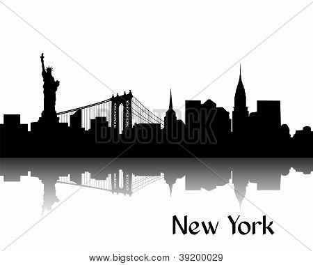 Vectores Y Fotos En Stock De Silueta De Nueva York Bigstock Ciudad Silueta Nueva York Pintura Tatuaje De Nueva York