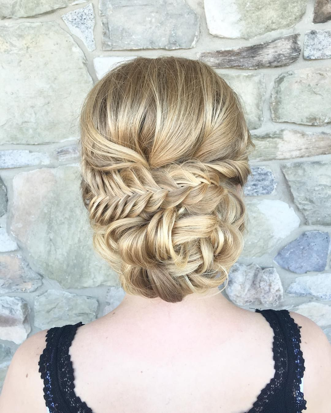the most romantic messy updos wedding hairstyles. Black Bedroom Furniture Sets. Home Design Ideas