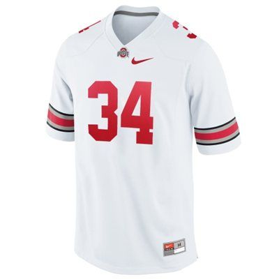 new concept 66a99 80167 Nike Ohio State Buckeyes #34 Youth Game Football Jersey ...