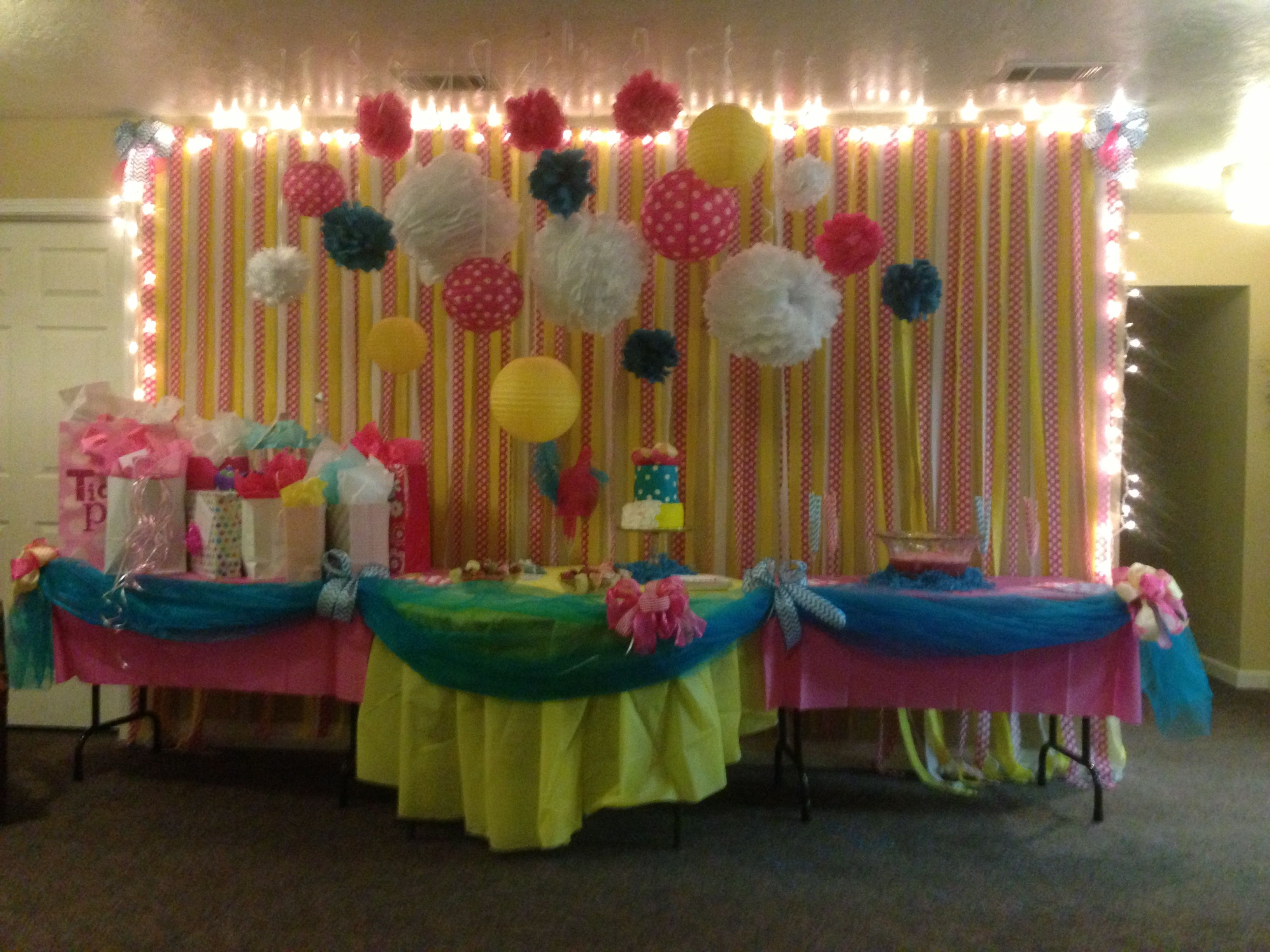 Baby Shower Yellow And Pink ~ Baby shower hot pink yellow and teal