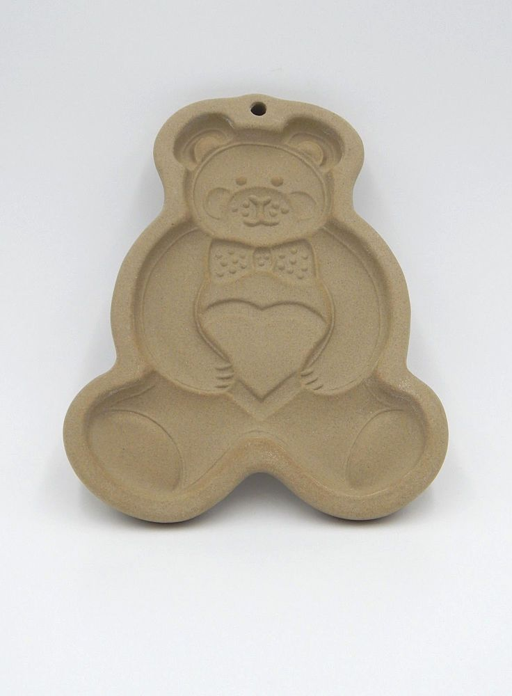 Vintage 1991 Pampered Chef Stoneware Cookie Mold TEDDY BEAR USA ...