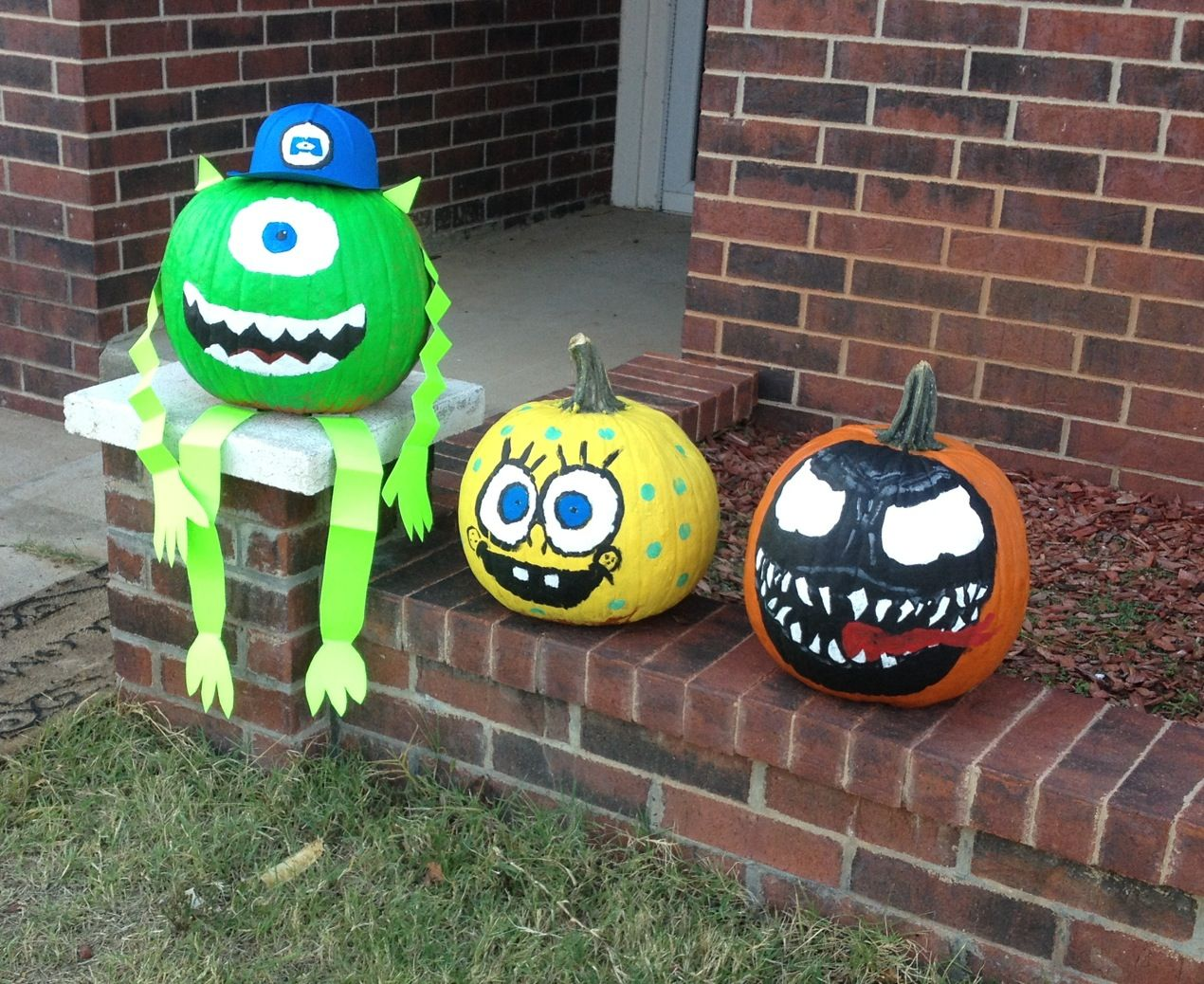 Sully Monsters Inc Painted Pumpkin