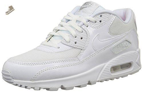 Nike Womens Shoes Air Max 90 Premium WhiteMetallic Silver