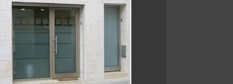 Puertas principales ouya hierro forjado y vidrio puertas - Puertas de aluminio con cristal ...