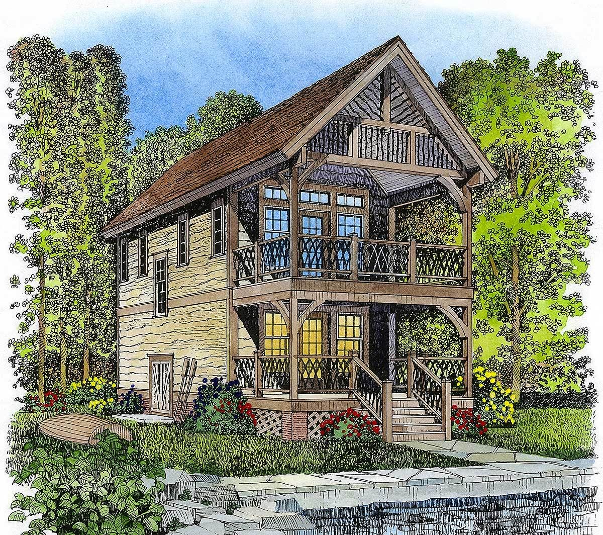 Plan 43041pf Petite Adirondack Style Retreat In 2021 Adirondack House Plans Entry Doors With Glass