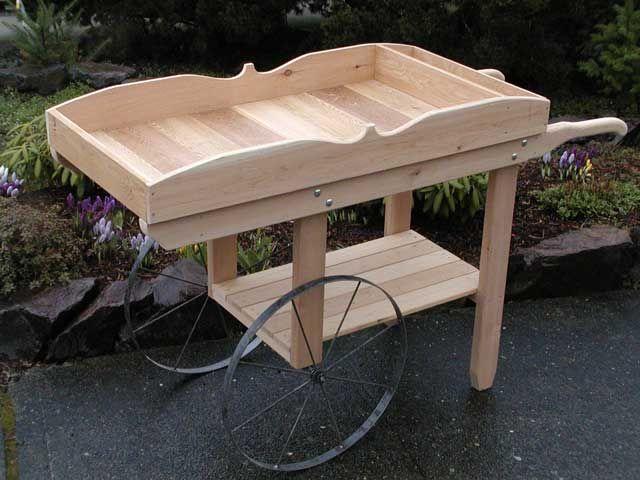 The Runnerduck Flower Cart Step By Step Instructions Flower Cart Wood Projects Diy Wood Projects