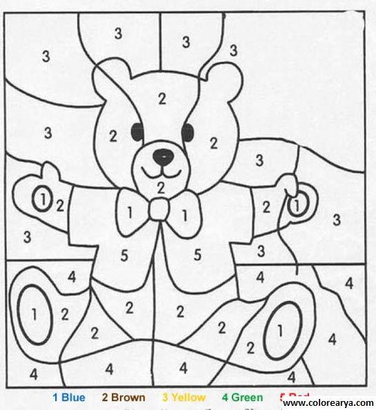 Resultado De Imagen Para Dibujos Para Colorear Con Números Ingles