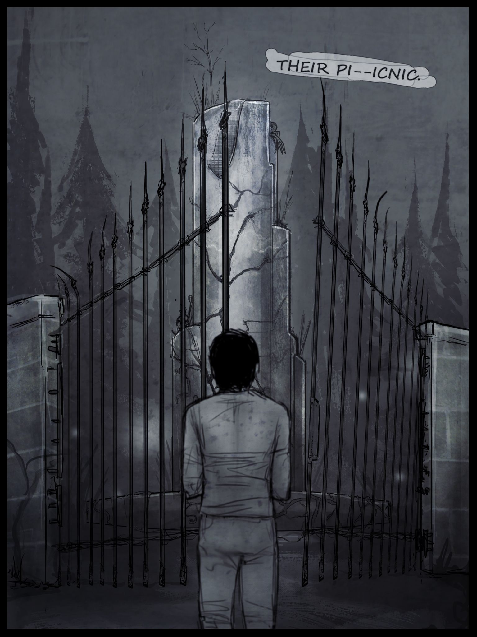 """Don't forget! If you like comics, make sure keep up with our comic """"Kansas"""", it's pretty awesome!  David Garland wakes from an uneasy sleep into a full-blown nightmare. http://www.newgrounds.com/portal/view/634402  #comic #comics #comicbook #comicbooks #graphicnovel"""