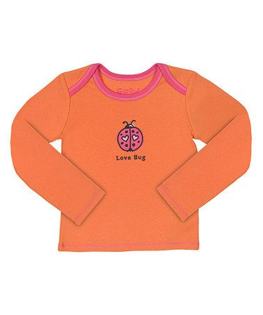 Take a look at this Juicy Orange 'Love Bug' Tee - Infant by Life is good® Girls on #zulily today!