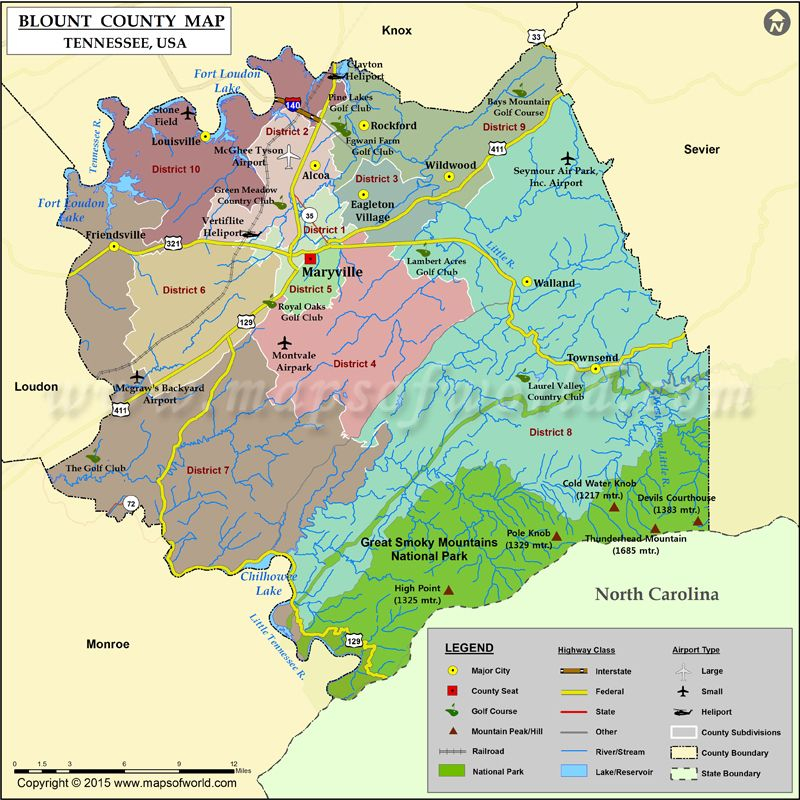 Blount County Map, Tennessee | Different Stuffs in 2019 | County map ...