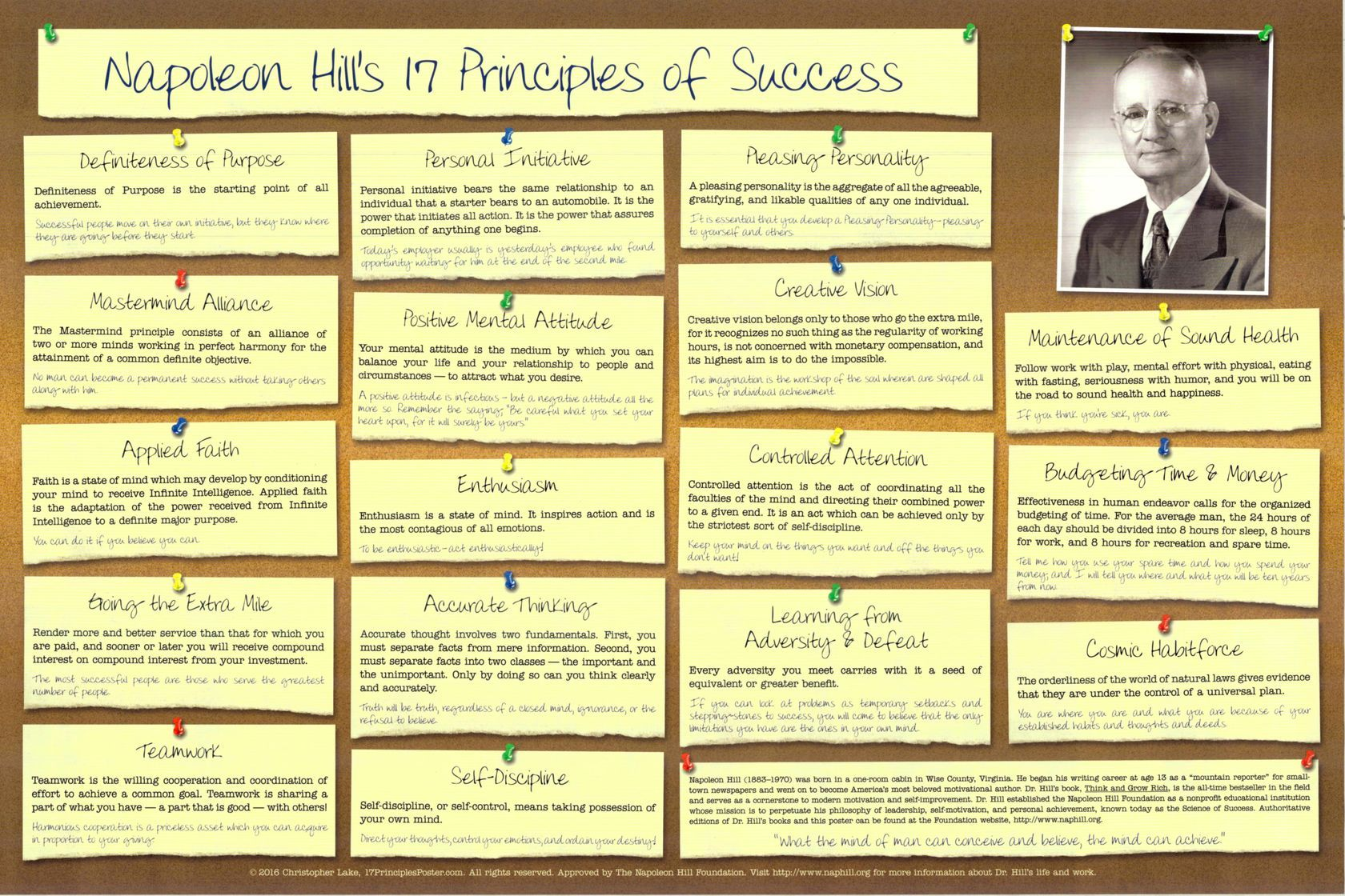Image result for napoleon hill 17 principles of success