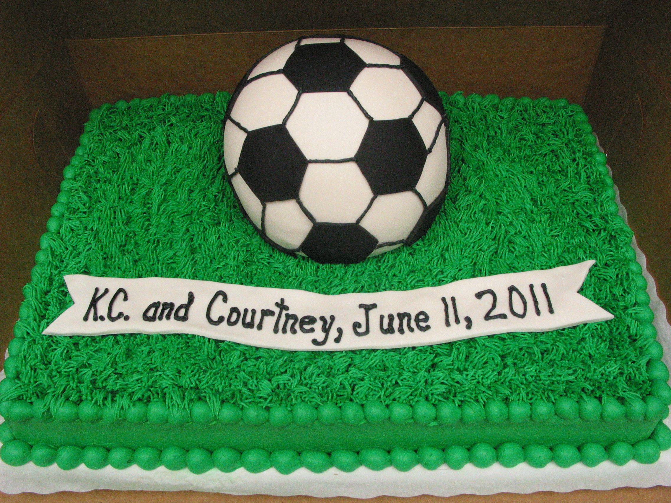 Groom Cake Sports Soccer Ball Birthday Cake Masculine Cake Boy Cake