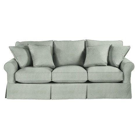 Merveilleux Baldwin Sofa Slipcover   Microfiber Celadon