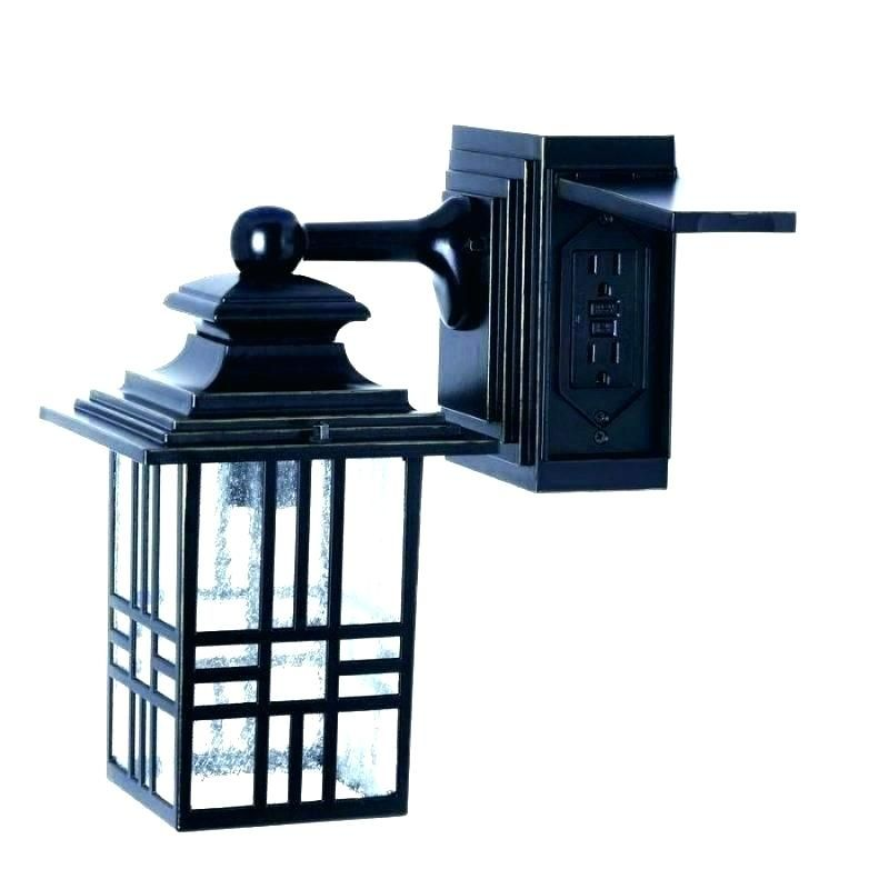 Outdoor Light With Electrical Outlet Porch Light With