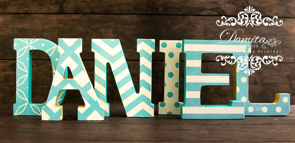 Letras decoradas letras letras de madera do it - Letras de madera decoradas ...