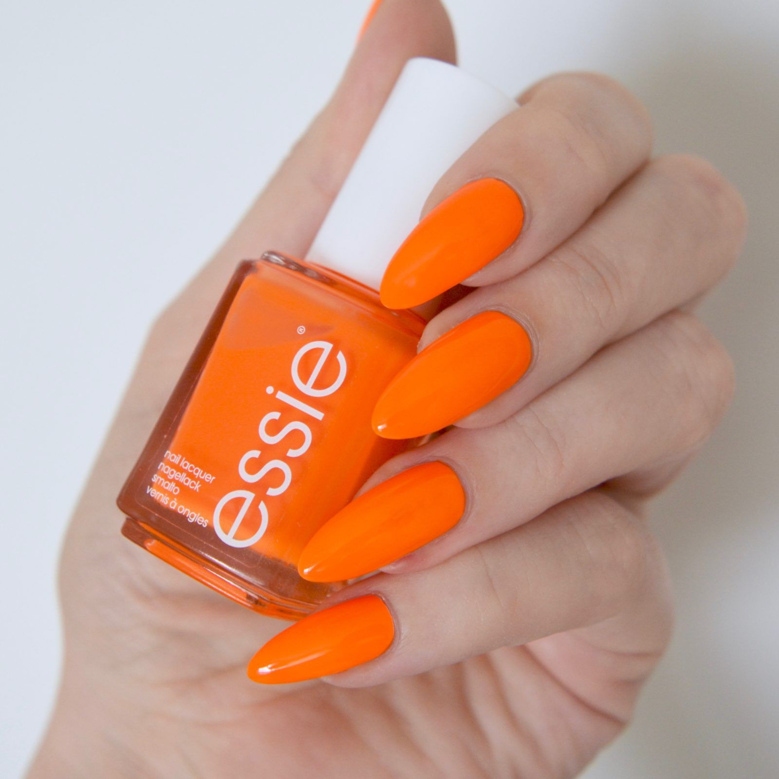 Essie Neon 2017 Review With Swatches | Neon orange nails, Orange ...