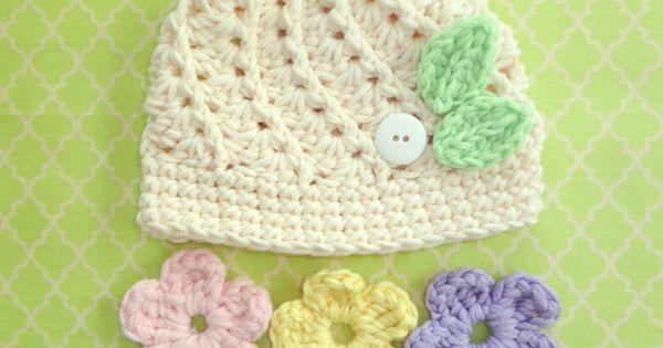 Baby Crochet Hat with Interchangeable Flowers | háčkování | Pinterest | Crochet Hats, Hats and Crochet