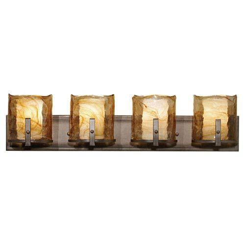 Photo of Feiss VS18904-RBZ Aris four-light bath mixer made of Roman bronze, transition | Bellacor