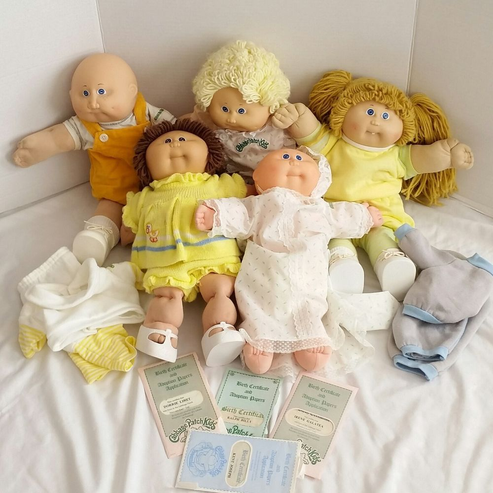 Lot 4 Cabbage Patch Kids Preemie Papers Clothes Shoes Girl Boy Vintage Latino Cabbagepatchkids Cabbage Patch Kids Patch Kids Paper Clothes