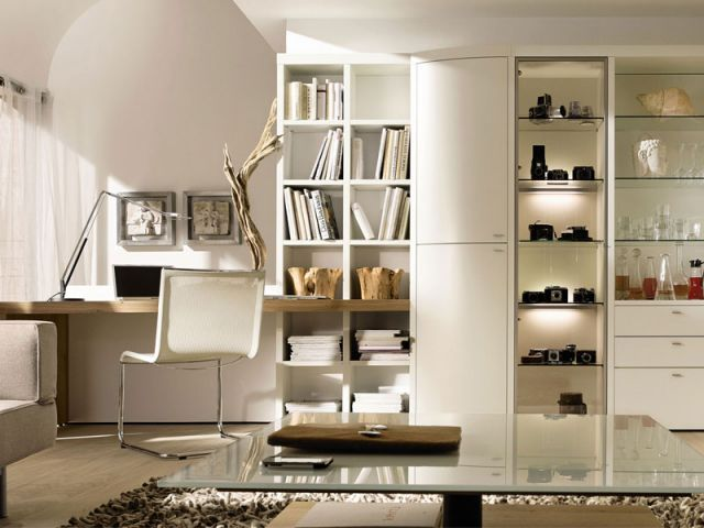 am nager un coin bureau dans son salon bureau desk salons and desks. Black Bedroom Furniture Sets. Home Design Ideas