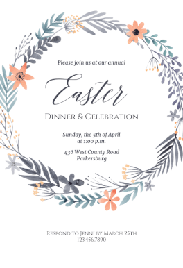free easter invitation templates