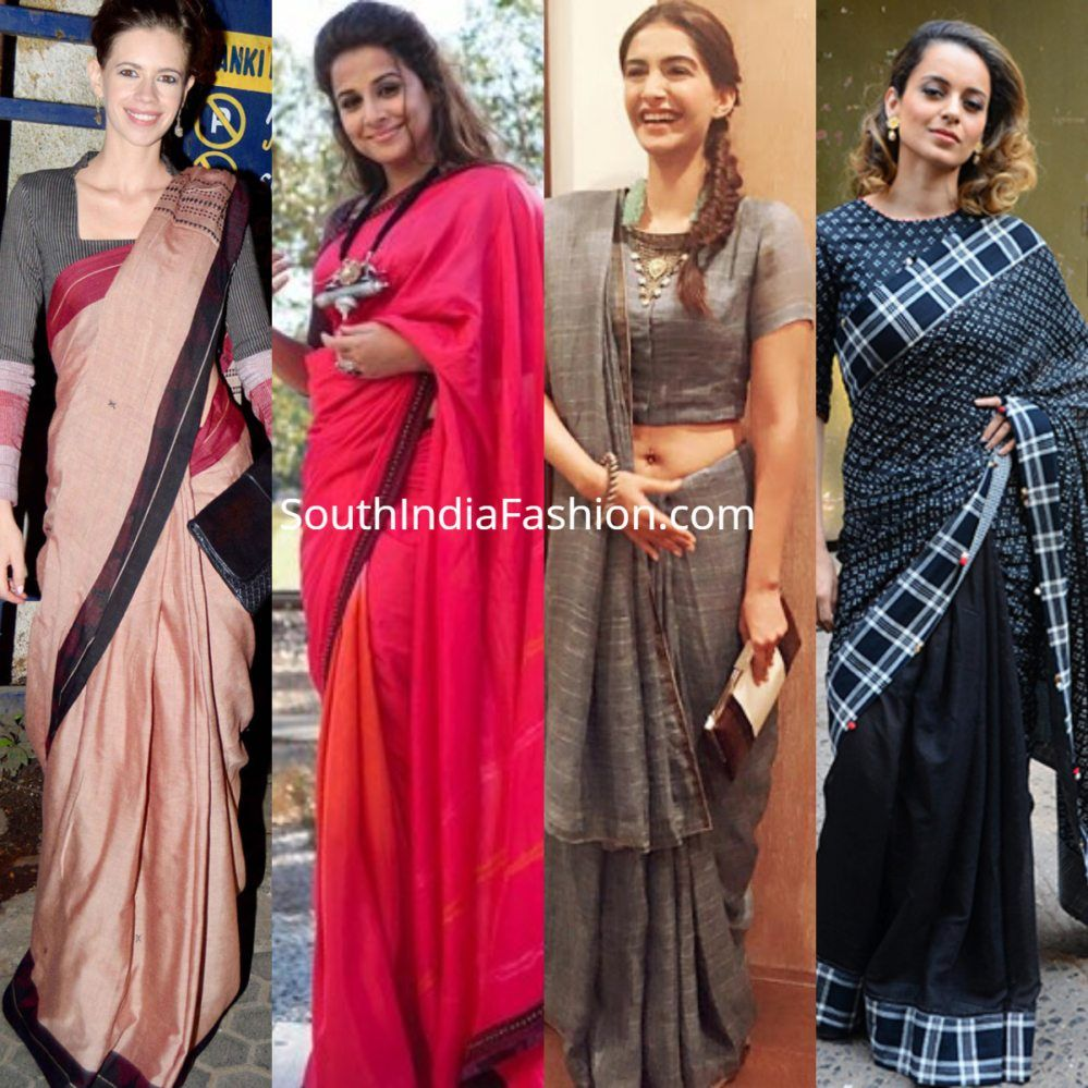 bedee2c9ae67d How To Style Handloom Sarees Like Celebrities