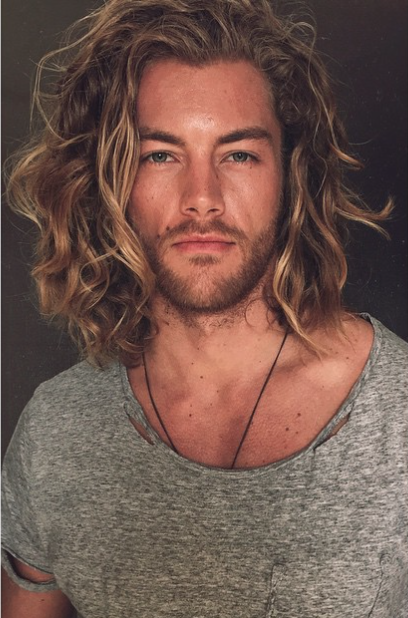 32 gorgeous top male models with long hair long haired