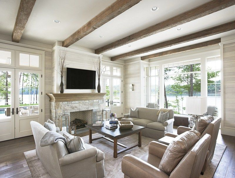 Design Dilemmas How To Design A Great Room Fireplace Wall With Built Ins And Television Interior Designer Des Moines Jillian Lare Family Room Design Livingroom Layout Living Room Designs