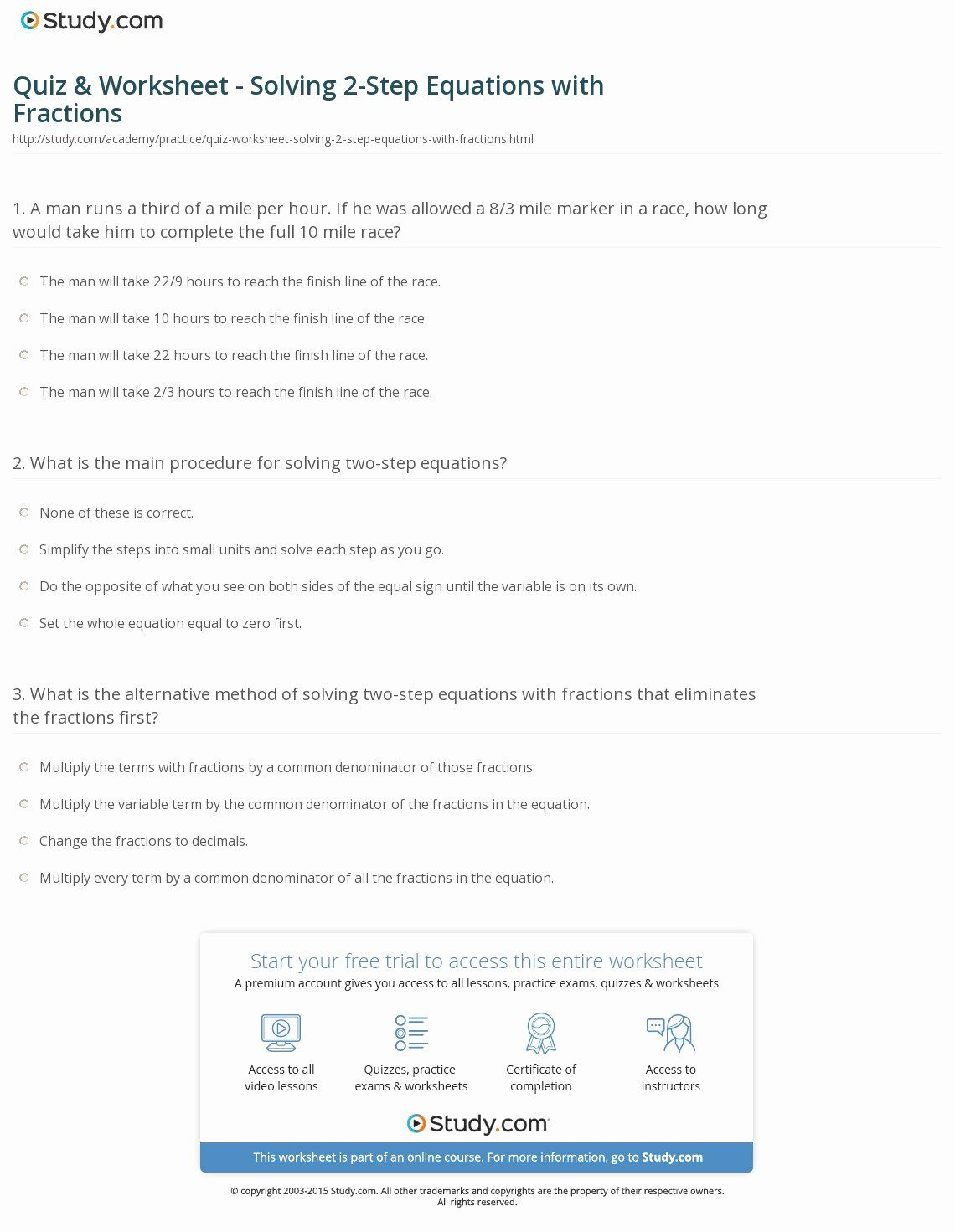 46 Two Step Equations Worksheet In With Images
