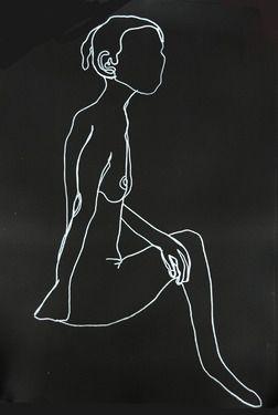 """Saatchi Online Artist Maxi Hazon; Drawing, """"Oneline slim"""" #art"""