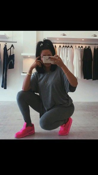 t-shirt grey t-shirt grey tumblr outfit outfit dope shoes leggings nike  shoes