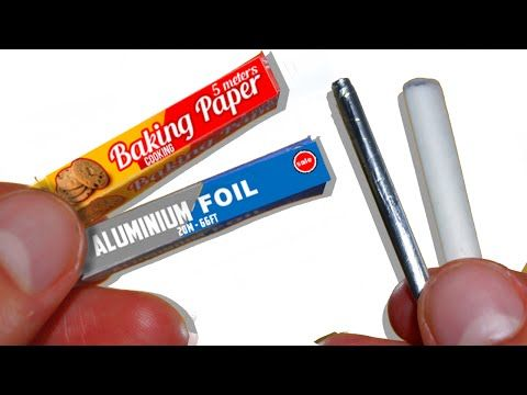 how to: miniature aluminum foil and parchment baking paper #dollhouseminiaturetutorials
