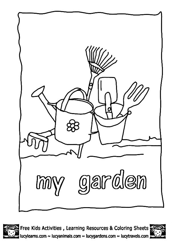Garden Coloring Sheets Garden Coloring Pages For Toddlers Huangfei