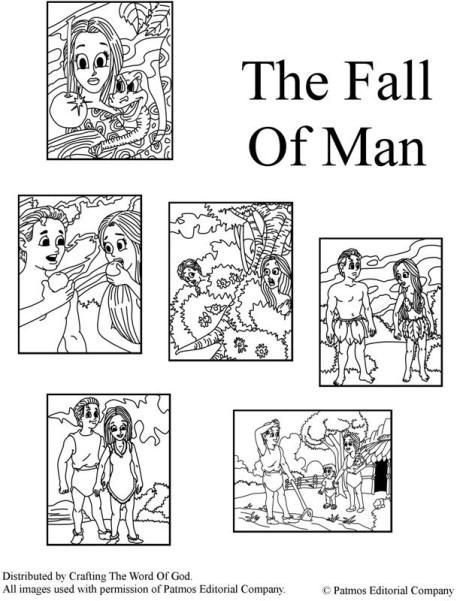 The Fall Of Man Coloring Pages The Falling Man Adam And Eve