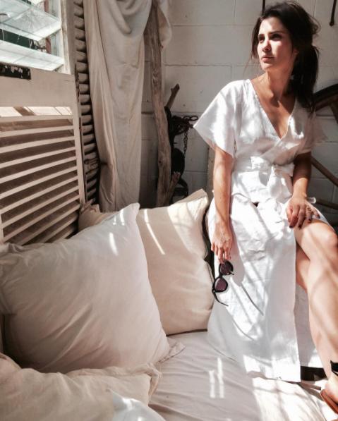 a313b96f4b White Linen Peplum Wrap Dress - ljcdesigns – LJC DESIGNS