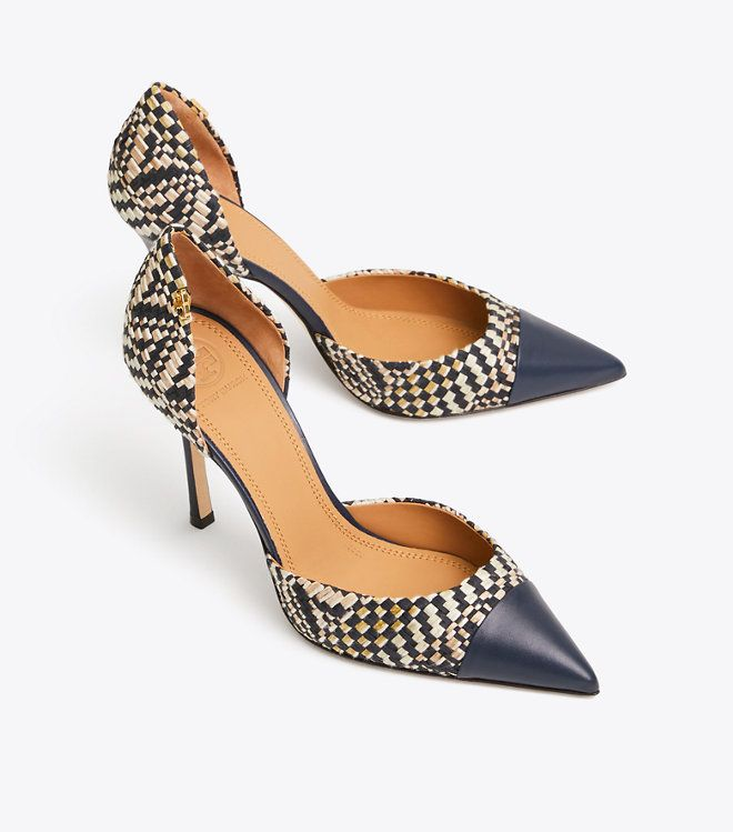 17dc3f542 Tory Burch Penelope Woven Cap-toe D orsay Pump   Women s View All New  Arrivals