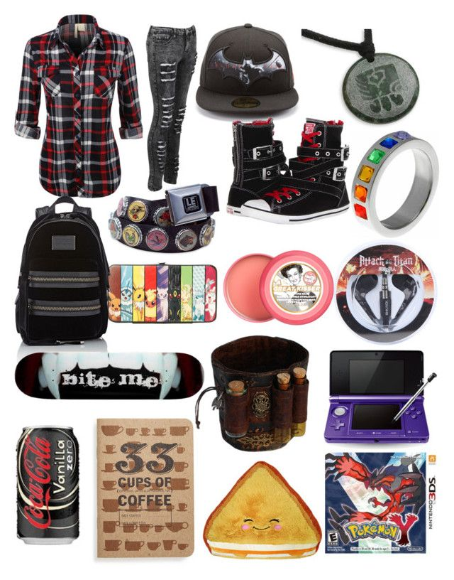 """Skater Girl"" by girlzombieslayer ❤ liked on Polyvore featuring NOVICA, Nintendo, Marc by Marc Jacobs, Converse, Soap & Glory and 33 Books Co."