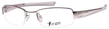 Armacao Oculos De Grau Iron Metal Grande 2425 Prata Com