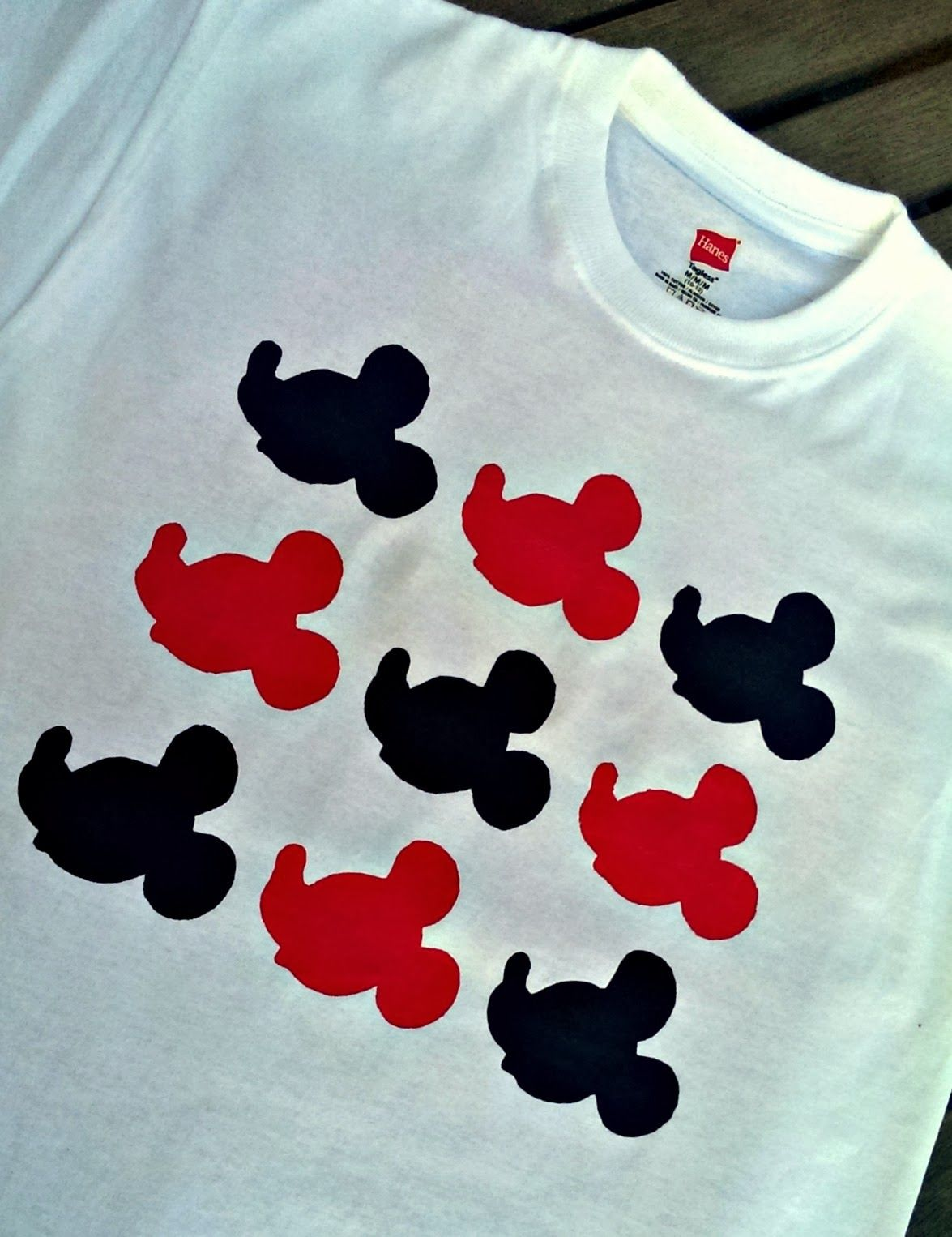 30c24c4d7 How to paint a Mickey Mouse t-shirt using freezer paper stencil shirts