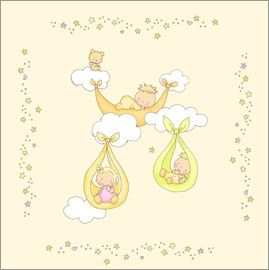 birth fluffy feelings   babies in hammocks hanging from clouds   art      rh   pinterest