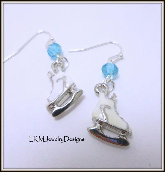 Ice Skating Earrings Figure By Lkmjewelrydesigns On Etsy 15 00