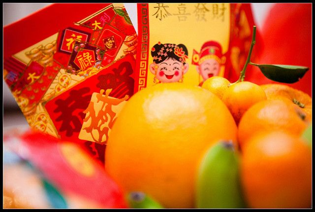 Red Envelopes And Oranges For Chinese New Year Red Envelope Chinese New Year Chinese New Year Gifts